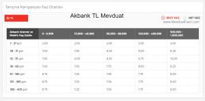 Akbank Serbest Hesap TL