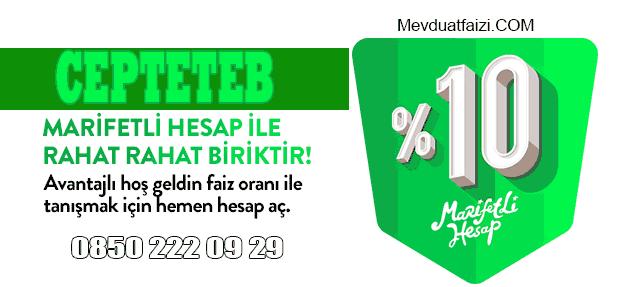 CEPTETEB Marifetli Mevduat Hesap